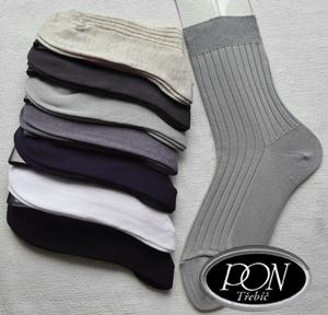 Ponožky pánské 100% BAVLNA velikost 31-32 nadměrná velikost